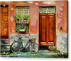 A Visit Acrylic Print by David Lloyd Glover