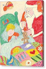 A Visit From Santa Acrylic Print by Sonya Chalmers