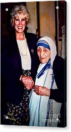 A Vist With Mother Teresa Acrylic Print