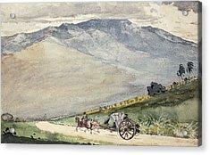 A Volante On A Mountain Road Cuba Acrylic Print
