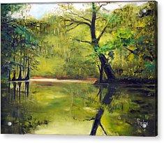 A Waccamaw Evening Acrylic Print by Phil Burton
