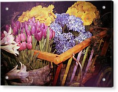 A Wagon Full Of Spring Acrylic Print