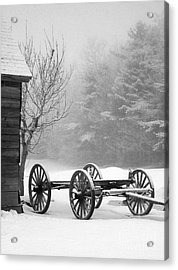 A Wagon In Winter Acrylic Print