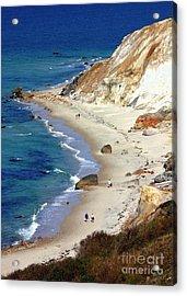 A Walk Along Aquinnah Beach Acrylic Print by Carol Groenen
