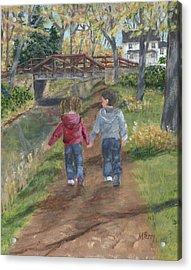 A Walk Along The Canal Acrylic Print