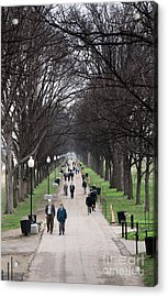 A Walk Along The National Mall In Washington Dc Acrylic Print