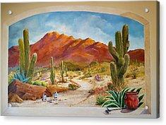 A Walk In The Desert Wall Mural Acrylic Print