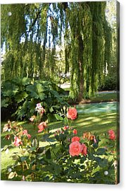 A Walk In The Park Acrylic Print by Ann Johndro-Collins