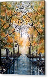 A Walk In The Park - Autumn Acrylic Print