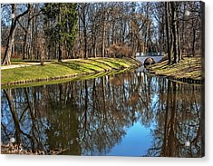 A Walk In The Park Lazienki Warsaw Acrylic Print