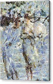 A Walk In The Park Acrylic Print by Shirley Stalter