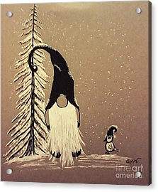 A Walk In The Snow Acrylic Print by Ginny Youngblood