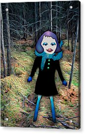 A Walk In The Woods Acrylic Print by Bonnie Follett