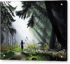 A Walk In The Woods Acrylic Print by Chris Wiese