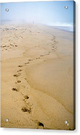 Acrylic Print featuring the photograph A Walk On The Beach by Tom Romeo
