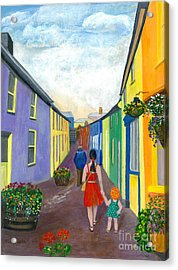 A Walk On The Bright Side Acrylic Print by Veronica Rickard
