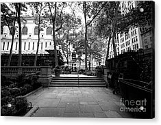 Acrylic Print featuring the photograph A Walk Through Bryant Park by John Rizzuto