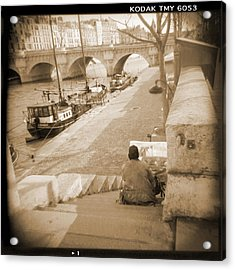 A Walk Through Paris 1 Acrylic Print by Mike McGlothlen