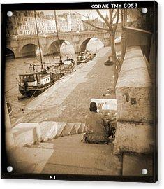 A Walk Through Paris 1 Acrylic Print by Mike McGlothlen