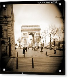 A Walk Through Paris 3 Acrylic Print by Mike McGlothlen