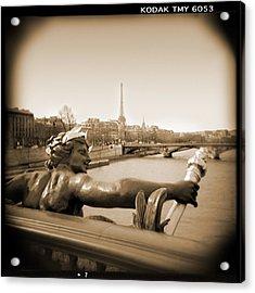 A Walk Through Paris 7 Acrylic Print by Mike McGlothlen