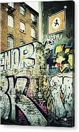 A Wall Of Berlin With Graffiti Acrylic Print