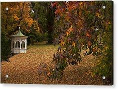 A Washington Crossing Autumn Acrylic Print by Elsa Marie Santoro