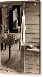 A Washstand In The Dog Run And View Acrylic Print by Everett