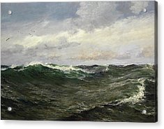 A Waste Of Waters Acrylic Print by Charles Napier Hemy