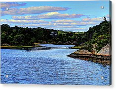 Acrylic Print featuring the photograph A Water View Newport Ri by Tom Prendergast