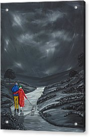 Acrylic Print featuring the painting A Wee Bijou Strollette by Scott Wilmot