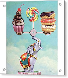 A Well-balanced Diet Acrylic Print by Linda Apple