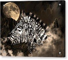 A Wild Steampunk Zebra Acrylic Print