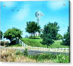 A Windmill Of Your Mind Acrylic Print by Joan Bertucci