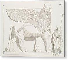 A Winged Human-headed Lion From Nimroud Acrylic Print