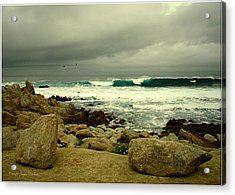 Acrylic Print featuring the photograph A Winter Day At The Beach by Joyce Dickens