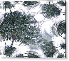 A Winter Fractal Land Acrylic Print