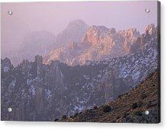 A Winter Morning At The Chiricahua Mountains'  Portal Peak Acrylic Print