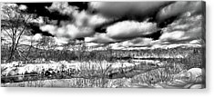 Acrylic Print featuring the photograph A Winter Panorama by David Patterson
