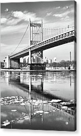 A Winter Portrait Of The Triboro Bridge Acrylic Print