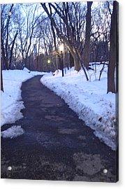 A Winter Scene In The City Acrylic Print