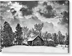 A Winter Sky Monochrome Acrylic Print by Steve Harrington