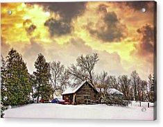 A Winter Sky - Paint Acrylic Print by Steve Harrington
