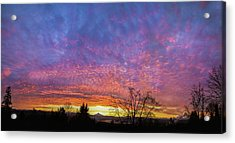 Acrylic Print featuring the photograph A Winter Sunrise by Angie Vogel