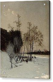 A Winter View In Posen Acrylic Print