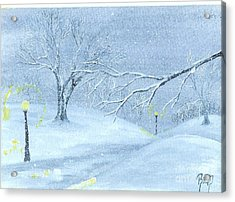 A Winter Walk... Acrylic Print by Robert Meszaros