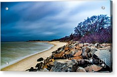 A Winter's Beach Acrylic Print