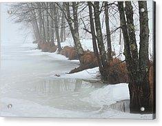 A Winter's Scene Acrylic Print by Karol Livote