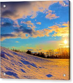A Winters Sunset  Acrylic Print by Robert Pearson
