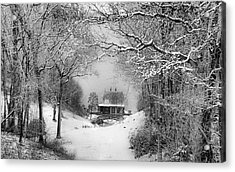 A Winter's Tale In Centerport New York Acrylic Print